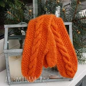 Rękawiczki pomarańczowe jaga11 ciepłe, wygodne, zima, saneczki,