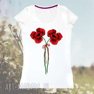 galavena bluzka ręcznie malowana- unikat- bawełna z certyfikatem, kwiaty, bawełniana