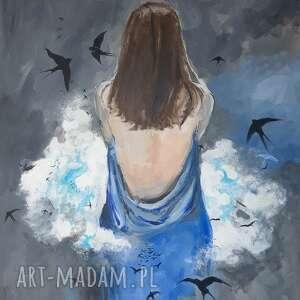 """""""chmura"""" obraz akrylowy na płótnie 100cm x 80cm artystki adriany"""