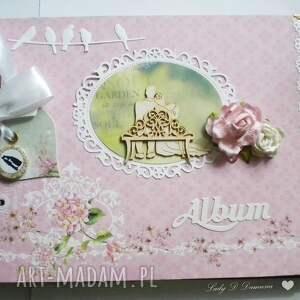 Album na fotografie ślubne w stylu vintage, album, ślub, para, młoda, wesele