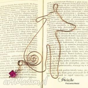 ręcznie robione zakładki pies lucjan - zakładka do książki
