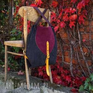Rogata Małgorzata listopadowy las plecako-torba, kolorowa, jesień, listopad, skóra