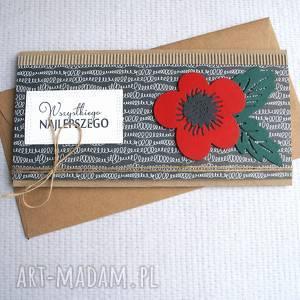 kaktusia kartka kopertówka maczek, ślub, imieniny, urodziny, mak, maki