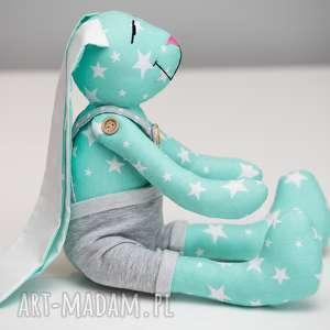 ręcznie robione zabawki królik z imieniem personalizacja prezent