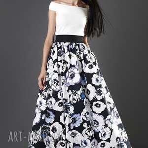 handmade spódnice spódnica maxi w kwiaty
