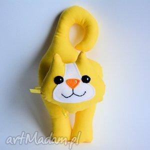 kotek klamkowy stasia - kotek, klamkowy, żółty, zawieszka, maskotka, zabawka