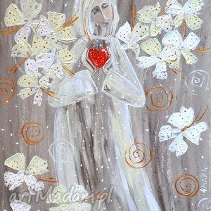 obrazy anioł z serduszkiem zamówienie pani izabely