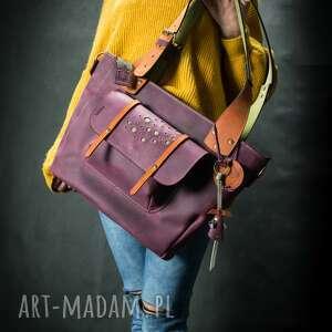 Oryginalna skórzana torba od ladybuq wykonana ręcznie w kolorze