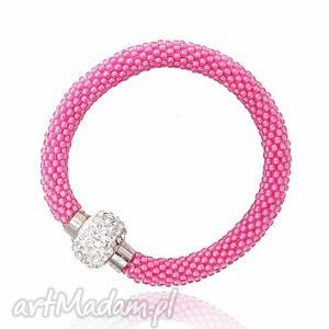 Pink Inspiration, bransoletka, koralikowa, zkoralików, beading, beadwork