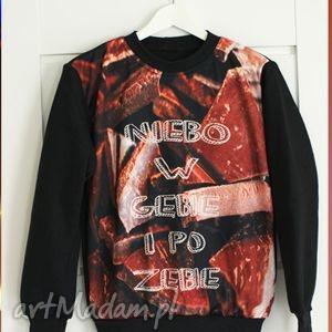niebanalna bluza z nadrukiem 3d czekolada , bluza, modna, print, czekolada, pozębie