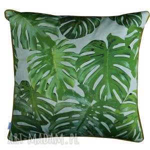 handmade poduszki poduszka monstera green