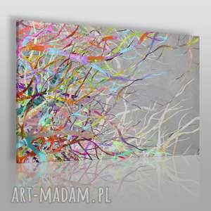 Obraz na płótnie - ABSTRAKCJA GAŁĘZIE KOLORY 100x70 cm (52701/100x70), płomienie