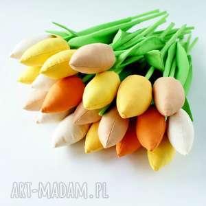 kuferek malucha tulipany - wielki bukiet 20 szt bawełnianych kwiatów