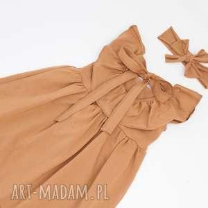 sukienka z guziczkami i kokarda opaska gratis, mamaicorka, guziczki, falbanka