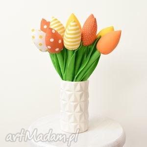 dekoracje tulipany, tulipan, kwiaty, tulipany z materiału, bukiet, prezent