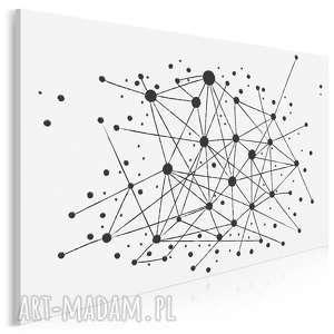vaku dsgn obraz na płótnie - minimalizm kropki linie 120x80 cm 34401