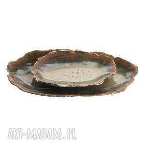zestaw ceramicznych pater, ceramika, patera, zestaw, talerz, ceramiczny