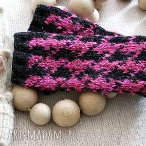 ręcznie wykonane rękawiczki bezpalczatki #1