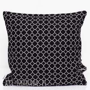 poduszka little fresh black 50x50cm od majunto, koniczyna, marokańska