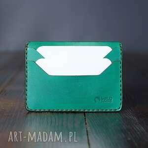 portfel skórzany model mini na karty ręcznie szyty, męski