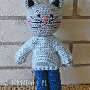 maskotki kotek spokojny, kotek, maskotka, przytulanka, zabawka, prezent, ozdoba