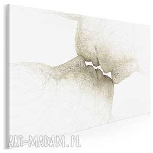 obraz na płótnie - pocałunek abstrakcja 120x80 cm 55201