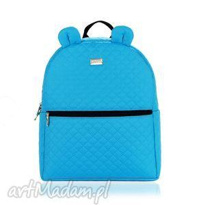 farbotka plecaczek farbiś 707 turkusowy r m, farbś, duży, uszy, niebieski, pikowany