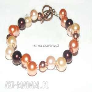 hand-made bransoleta z pereł