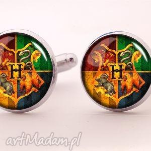 handmade spinki do mankietów hogwart - spinki do mankietów