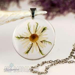 z1290 naszyjnik z prawdziwym kwiatem-5cm - naszyjnik z kwiatem, bizuteria z zywicy, kwiaty