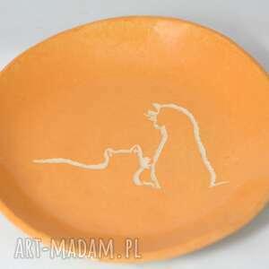 talerz z kotami, ceramika artystyczna, talerz, na stół, prezent, kot