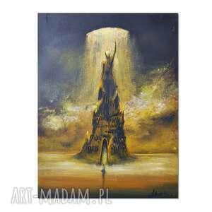 Ad lumen, oryginalny obraz ręcznie malowany, surrealizm