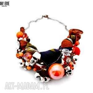orange naszyjnik handmade - naszyjnik, pomarańczowy, orange, kolorowy