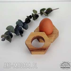 PODKŁADKA POD JAJKO - HEKSAGON, drewniane, podkładki, wielkanoc, podstawki, jajko