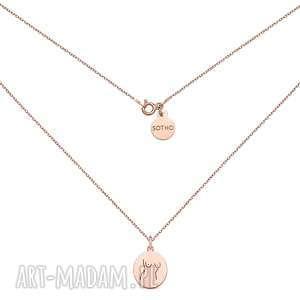 medalion z różowego złota body n3, naszyjnik, ciało, modny, body, pozłacany