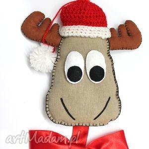 świąteczny prezent, łoś henryk, łoś, ozdoba, święta, zawieszka