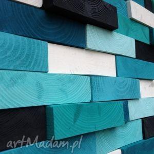 ręczne wykonanie dekoracje mozaika drewniana - na zamówienie