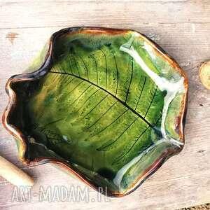 ceramika ceramiczna patera, paproć c149, paproć, półmisek, ceramika, liść