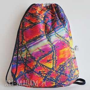 plecak - topaz, plecka, torba, kryształ, kamień, druk