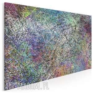 obraz na płótnie - abstrakcja linie 120x80 cm 38901, pollock, ekspresjonizm