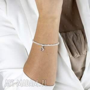 hand-made bransoletka z kamieni księżycowych follow your heart /podążaj za głosem