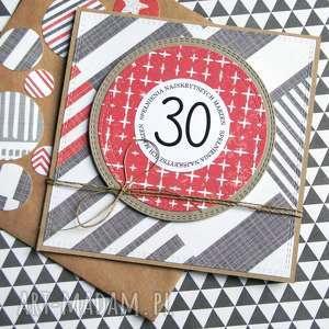 ręcznie wykonane kartki 30-te urodziny: kartka urodzinowa