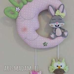 Prezent Personalizowana girlanda z imieniem dziecka - ksieżyc, girlanda, prezent