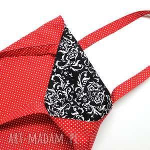 Torba bawełniana - kropeczki i ornament torebki niezwykle