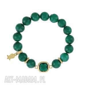lavoga bransoletka z jadeitów - earth energy, jadeit, łącznik, kryształek, minerał
