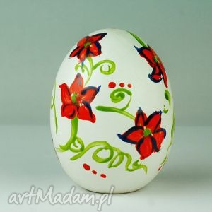 hand made ceramika jajo wielkanocna dekoracja ręcznie malowana