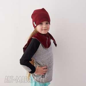 Zestaw czapka & chusta BORDO, czapka, chusta, bordo, zestaw, dziecko, jesienny