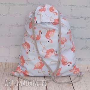 hand made flamingi worek - plecak