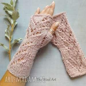 Prezent rękawiczki mitenki, rękawiczki, miitenki, wełniane, na-drutach, prezent