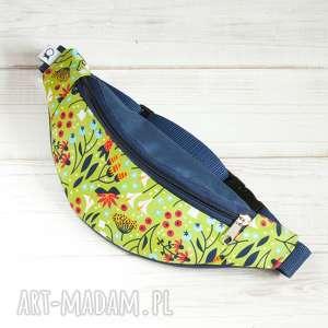 handmade dla dziecka nerka dla dziecka kids - kwiaty (jasna zieleń i granat)